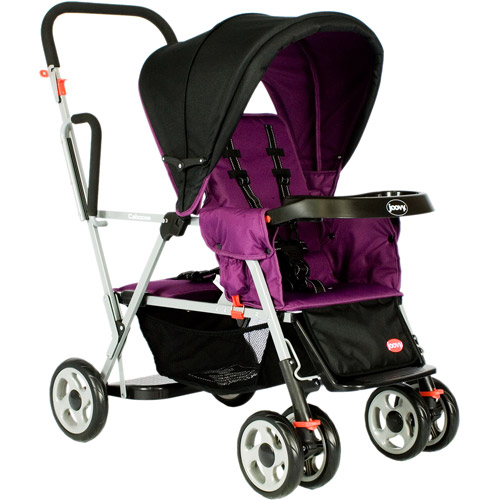 Joovy - Caboose Tandem Sit and Stand Stroller, Purpleness