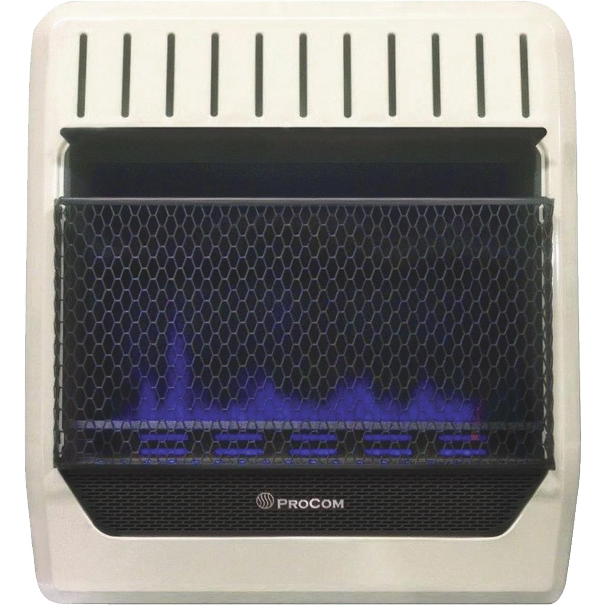ProCom Dual Fuel Blue Flame Gas Wall Heater