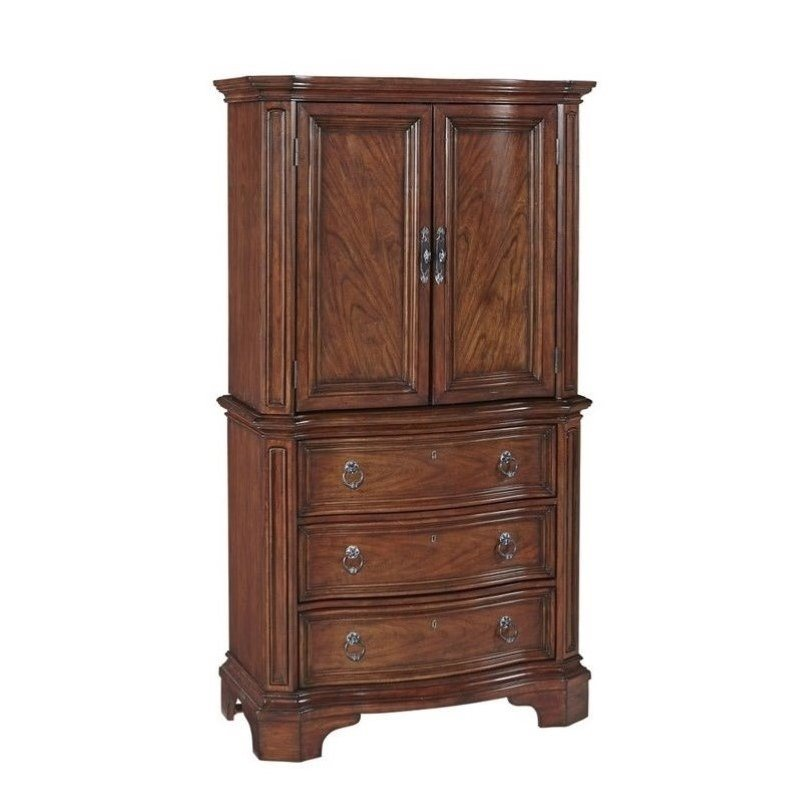 Bowery Hill 2 Door and 3 Drawer Chest in Cognac