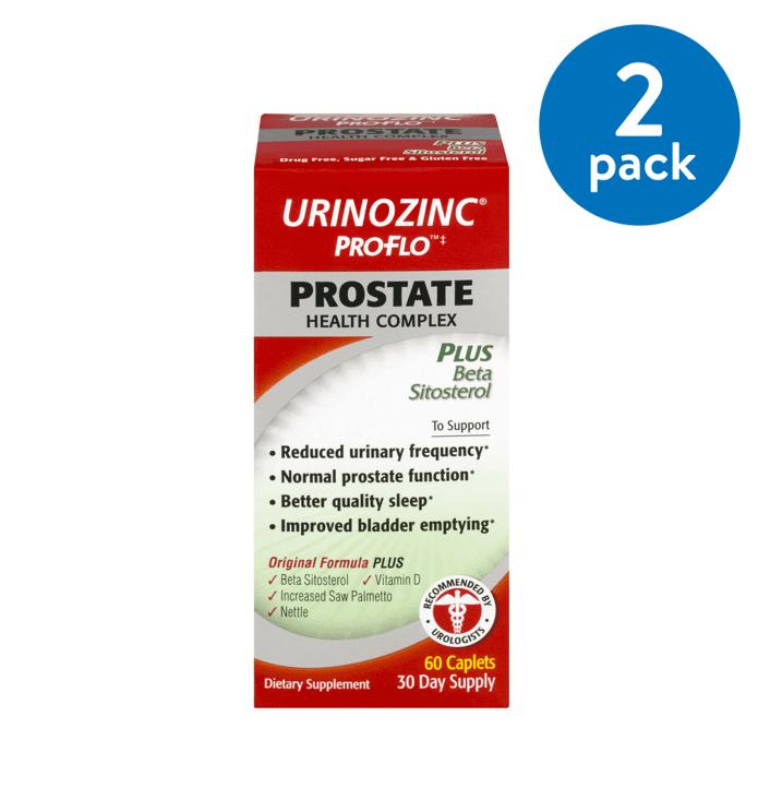 (2 Pack) Urinozinc ProFlo Prostate Health Complex Caplets, 60 Ct