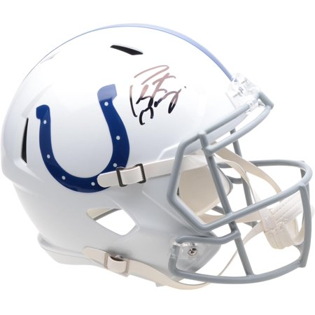Peyton Manning Indianapolis Colts Autographed Riddell Speed Replica Helmet - Fanatics Authentic Certified