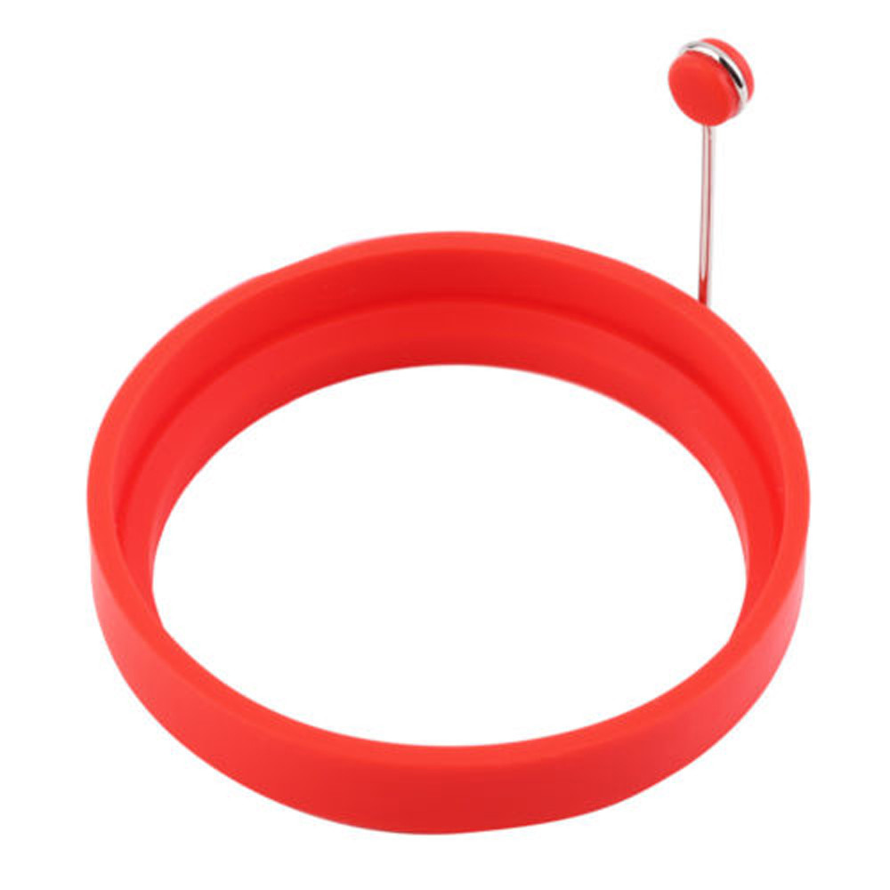 Mosunx Silicone Round Egg Rings Pancake Mold Ring W Handles Nonstick Fried Frying