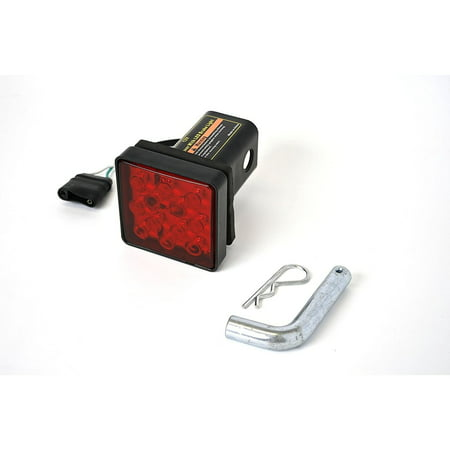 Lighted Hitch Cover - MaxxHaul 70429 Trailer Hitch Cover with 12 LEDs Brake Light