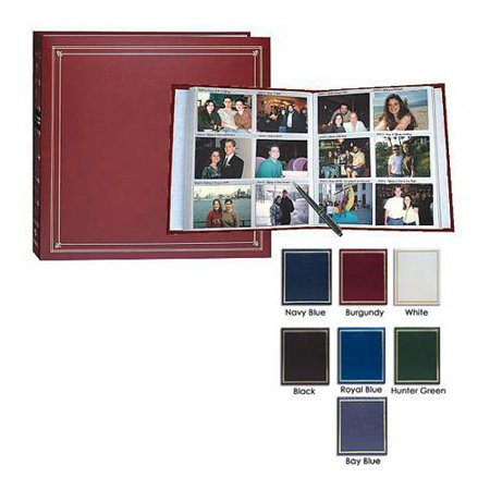 Pioneer Full Size Post Bound, Clear Pocket Photo Album with Solid Color Covers & Gold Trim, Holds 300 3.5x5.25