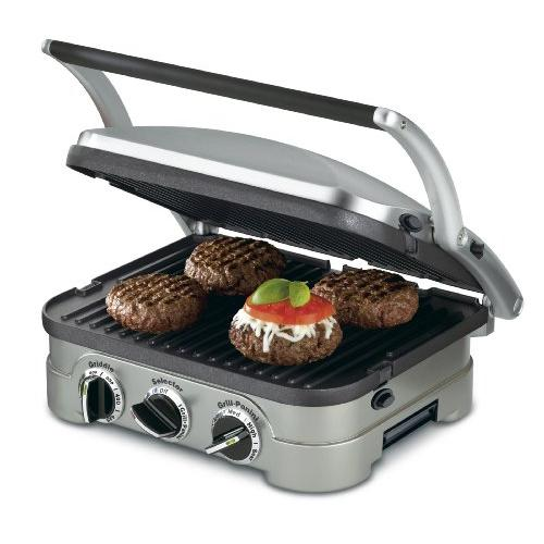 Cuisinart CUIGR4N Griddle Contact Grill Chrome