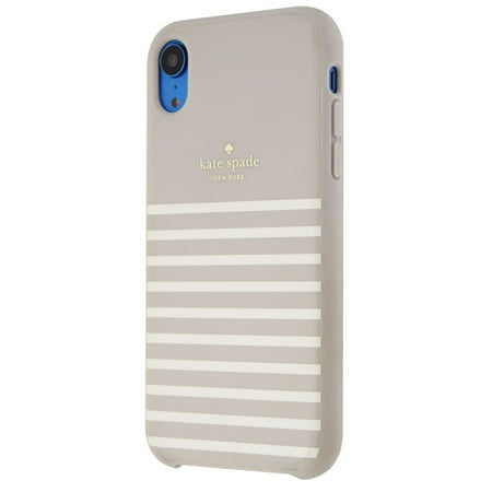 Kate Spade Soft Touch Case for iPhone XR - Feeder Stripe Clocktower/Cream - Kate Spade Stripes