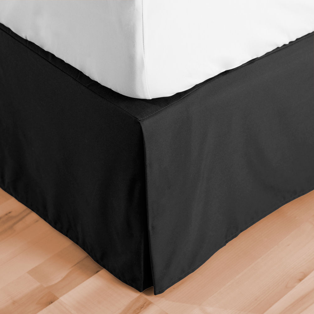 Click here to buy Bedskirt Double Brushed Premium Microfiber, 15�Inch Tailored Drop Pleated Dust Ruffle,... by Bare Home.