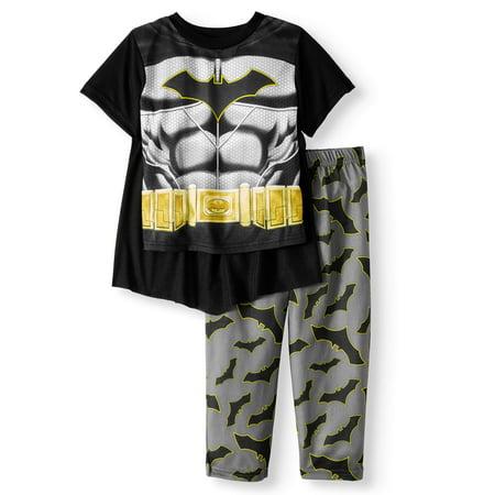 Batman Short Sleeve Costume Play Pajamas, 2-piece Set (Toddler - Batman Pajamas Kids