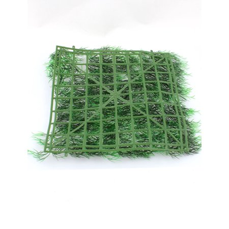 "11"" x 11"" Manmade Sqaure Shape Green Plastic Lawn Grass for Aquarium Fish Tank - image 1 de 2"