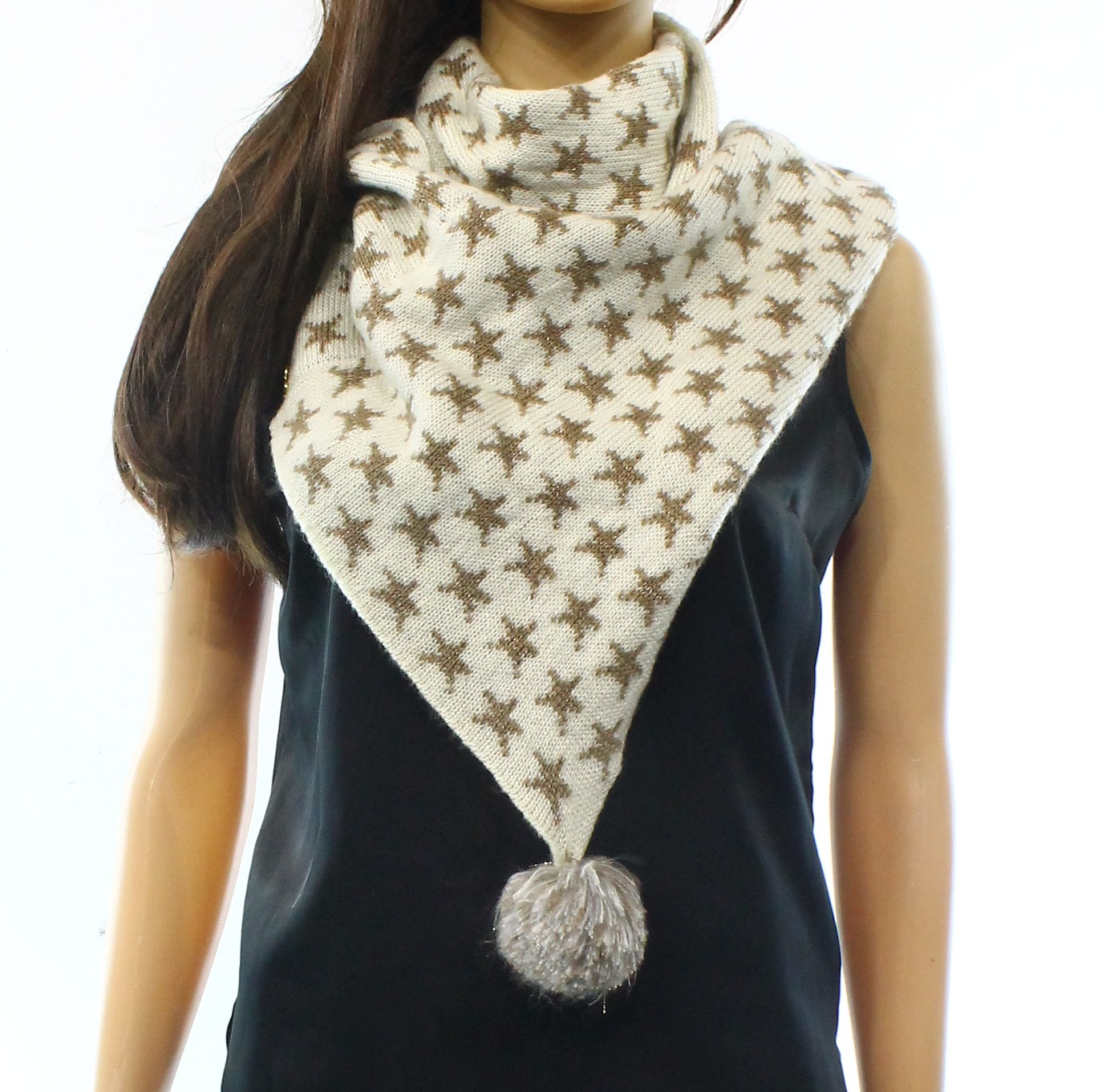 Betsey Johnson NEW Beige One Size Starfish Printed Cowl/Infinity Scarf $48