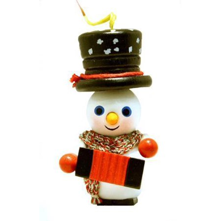 xwg5 0436 steinbach accordion player snowman german wooden christmas ornament