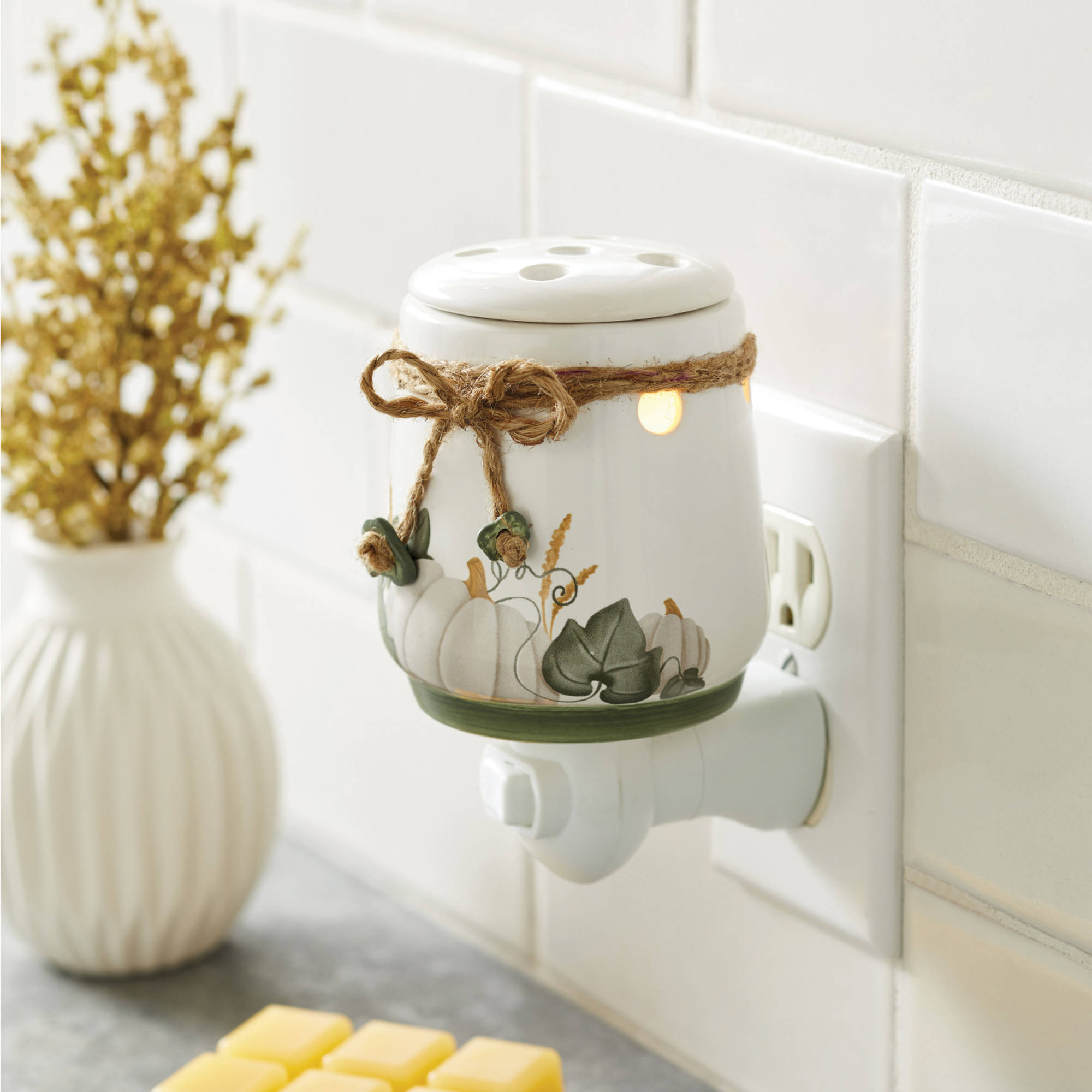 Better Homes & Gardens Accent Wax Warmer Pumpkin Weave