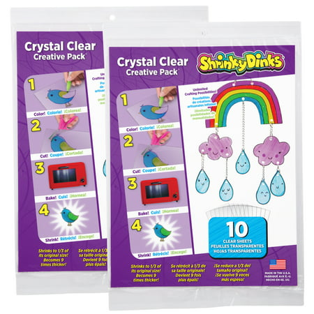 Arabesque Clear Crystal Gift - Shrinky Dinks Creative Pack 20 Sheets Crystal Clear
