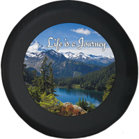 Life is a Journey Mountain Lake Forest Spare Tire Cover fits Jeep RV & More 28 Inch