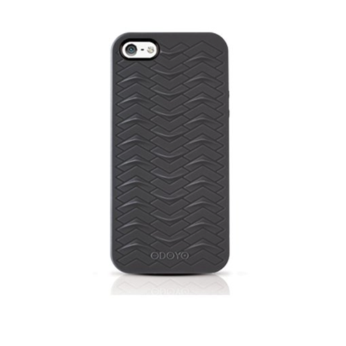 Odoyo PH360MB SharkSkin Case for iPhone 5 Midnight Black
