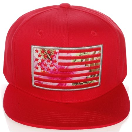 American Cities Men's USA Flag National Snapback Hat Cap 3D Embroidery (Mens Strapback Hats)