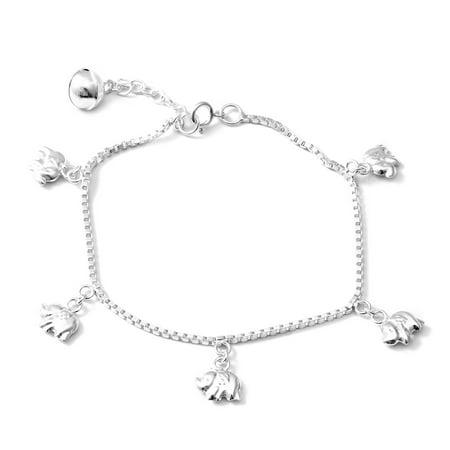 Elephant Bracelet 925 Sterling Silver Jewelry for Women Size (725 Bracelet Sterling Silver Jewelry)