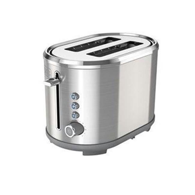 Black Decker2-Slice Extra Wide Slot Toaster, - Stainless Steel