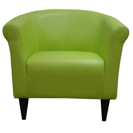 Ms Newport 1 Light - Newport Green Leatherette Club Chair