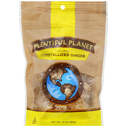 Plentiful Planet Crystallized Ginger, 10 oz, (Pack of 6)