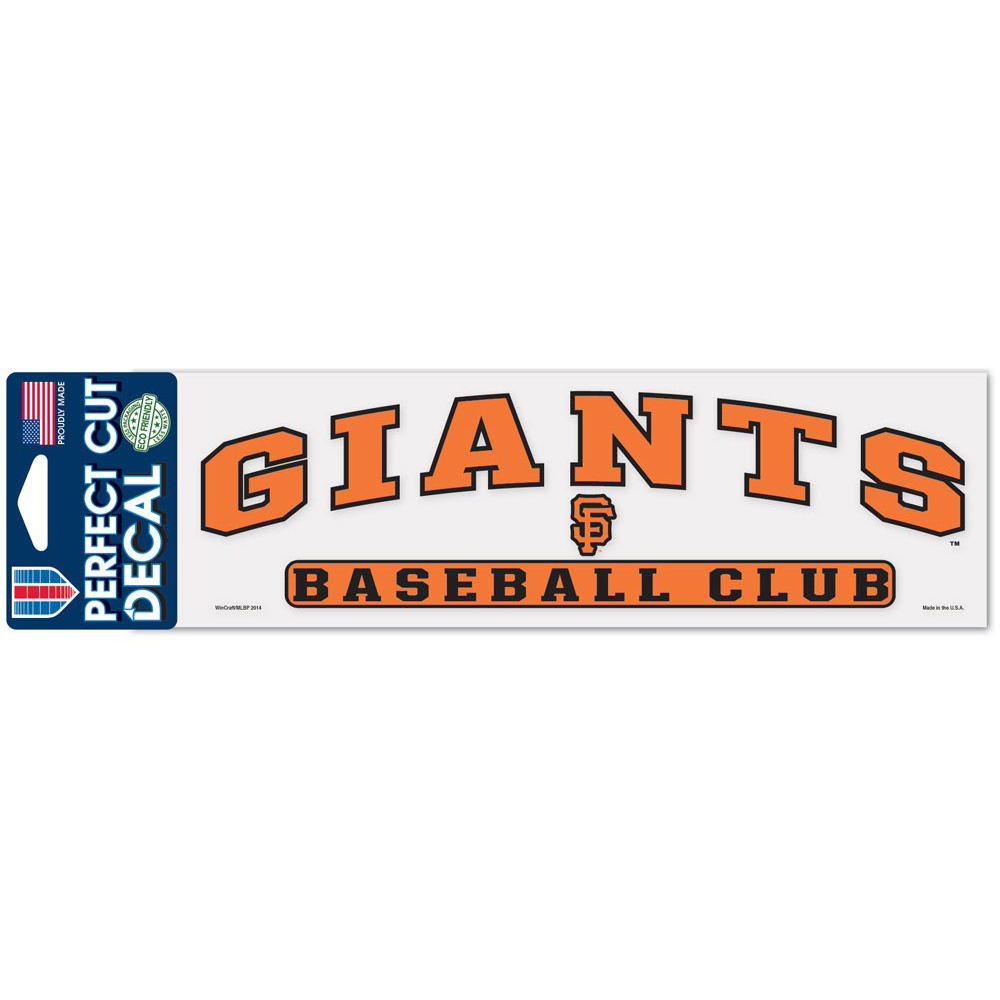 """San Francisco Giants WinCraft 3"""" x 10"""" Arch Perfect Cut Decal - No Size"""