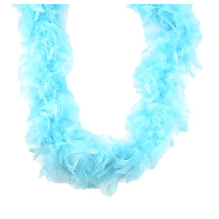 Lt Turquoise Teal Chandelle Feather Boa 72