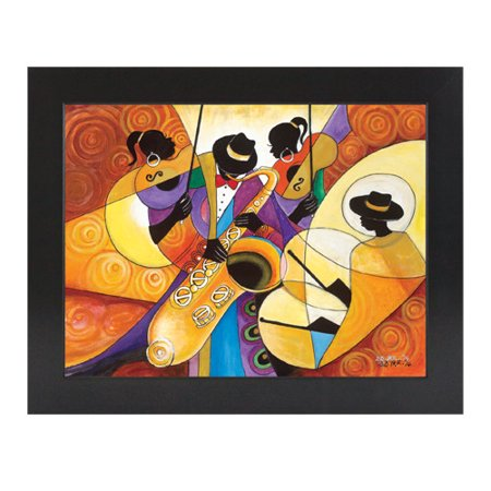 Image of African American Expressions All That Jazz Framed Painting Print