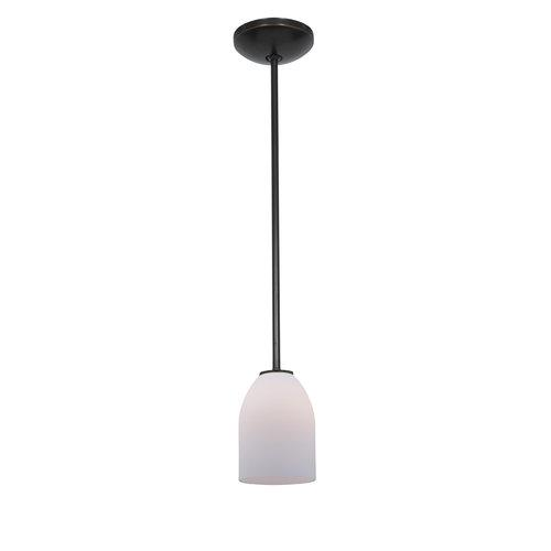 Access Lighting 28018-1R Pendants Janine Indoor Lighting ;Oil Rubbed Bronze   Opal by