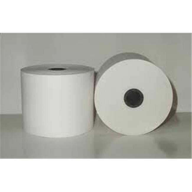 Adorable Supply B300100FU 3 in. x 100 ft. White Bond Rolls for Fujitsu - 50 per Case - image 1 of 1