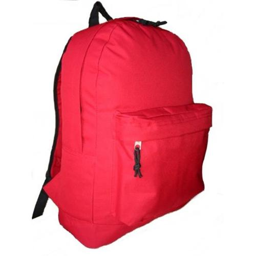 Bulk Buys Classic Backpack 18 inch x13 inch x6 inch   Red.  - Case of 30