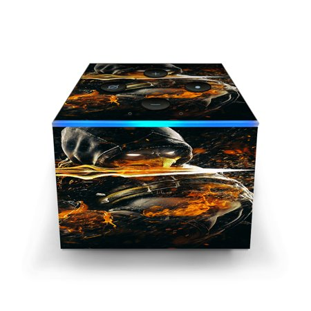 Skins Decals for Amazon Fire TV CUBE + REMOTE / Scorpion with Flaming Sword