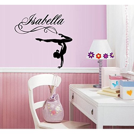 Gymnastic Girl (Custom Name) ~ Wall or Window Decal  (20