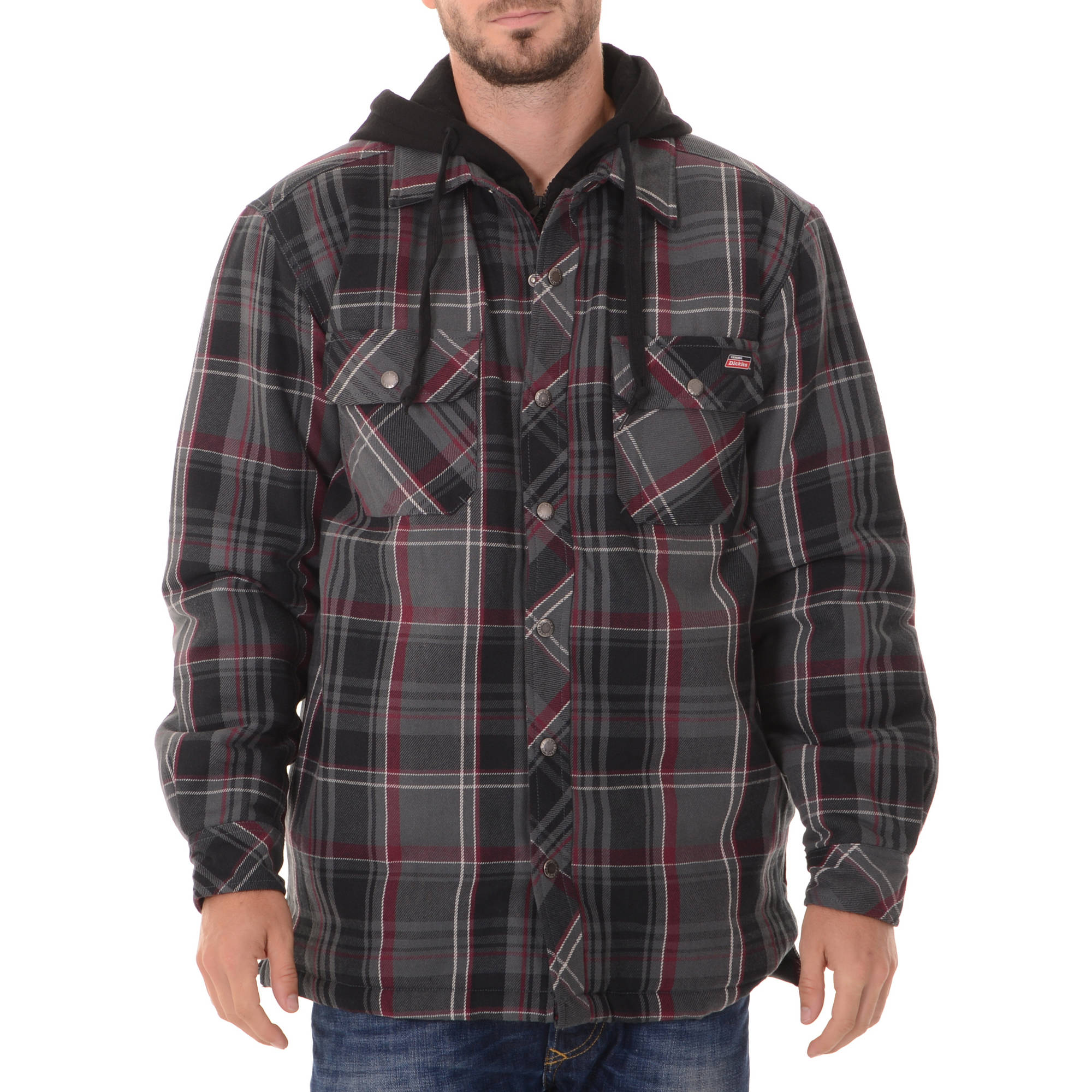 Dickies Men's Flannel Shirt Jacket - Walmart.com