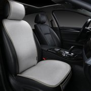 "Edealyn F-005 Series Ultra-Luxury Ice Silk Fabric Vehicle Seat Cover (Bottom Cushion Cover: W21""x D21"" and 0.3"" in Thickness; Back Cushion Cover: 27"" tall.), Single Piece"