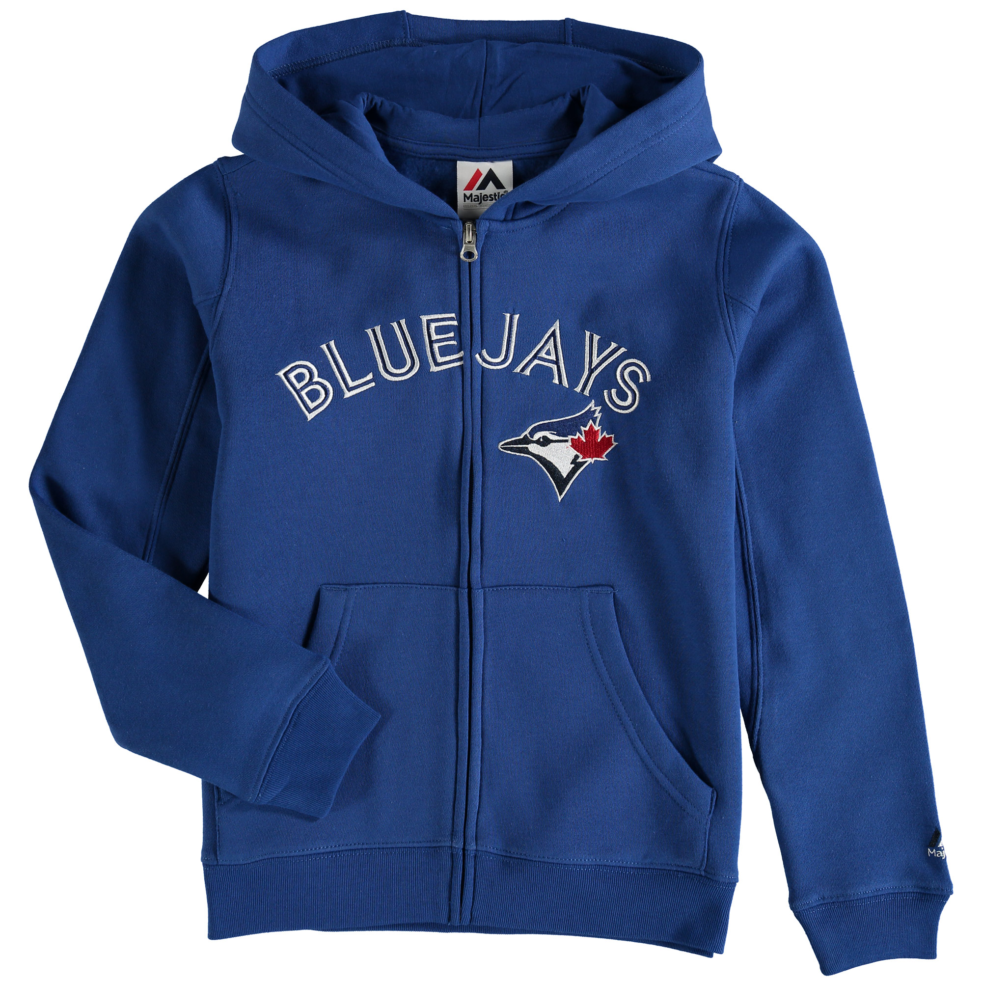 Toronto Blue Jays Majestic Youth Team Wordmark Full-Zip Hoodie - Royal