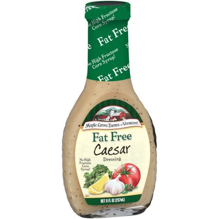Maple Grove Farms Fat Free Caesar Salad Dressing  8 Fl Oz   Pack Of 6