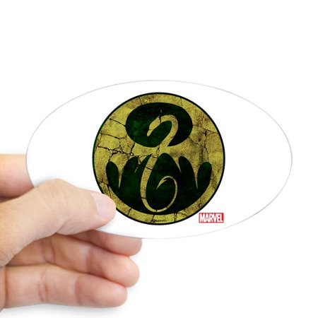 Sticker Iron (CafePress - Iron Fist Icon Distressed - Sticker (Oval))