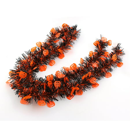 2M Halloween Scene Layout Party Props, Pumpkin Ribbon Tinsel Bar Decorations, Set of 2](Halloween Ii Behind The Scenes)