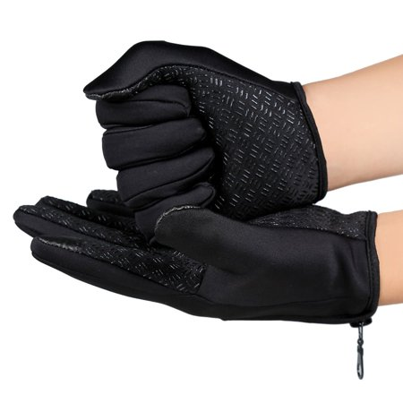 Unisex Ski Gloves Snowboard Gloves Motorcycling Touchscreen Winter Snow Windstopper Outdoor Riding Non-Waterproof Gloves - image 4 of 10