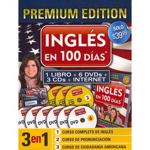 Ingles En 100 Dias [With 3 CDs and 6 DVDs and Paperback Book]