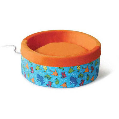 """K&H Pet Products Thermo-Kitty Bed, Large, Orange, 20"""" x 20"""" x 6"""""""