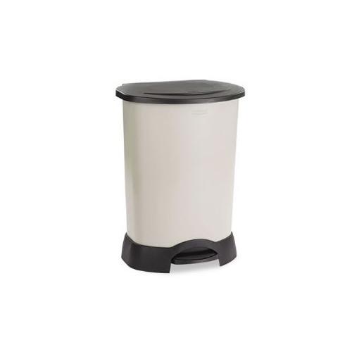 Step-On Container, Oval, Polyethylene, 30 gal, Light Platinum