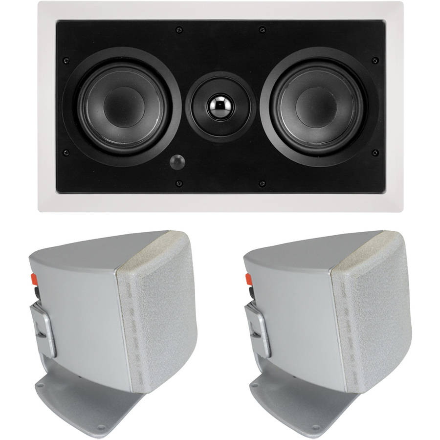 "ArchiTech AP-525 LCRS Dual 5.25"" 2-Way LCR In-Wall Loudspeaker and Bonus Speakers"