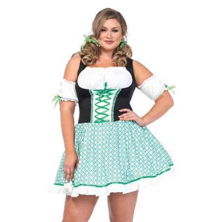 Full Figure Plus Size Clover Cutie St. Patricks Day Dress (St Patrick's Day Costumes For Toddlers)