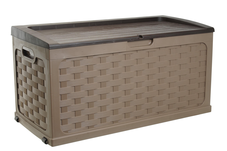 71 Gallon Weave Deck Box, Mocha Brown by Starplast