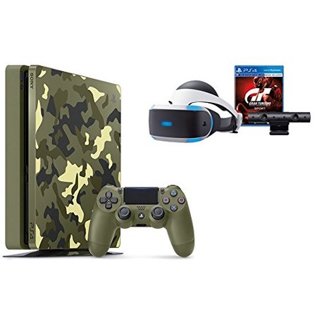 Playstation 4 Slim Call Of Duty Wwii Bundle  2 Items   Ps4 Slim 1Tb Limited Edition Console   Call Of Duty Wwii Bundle And Playstation Vr   Gran Turismo Sport Bundle