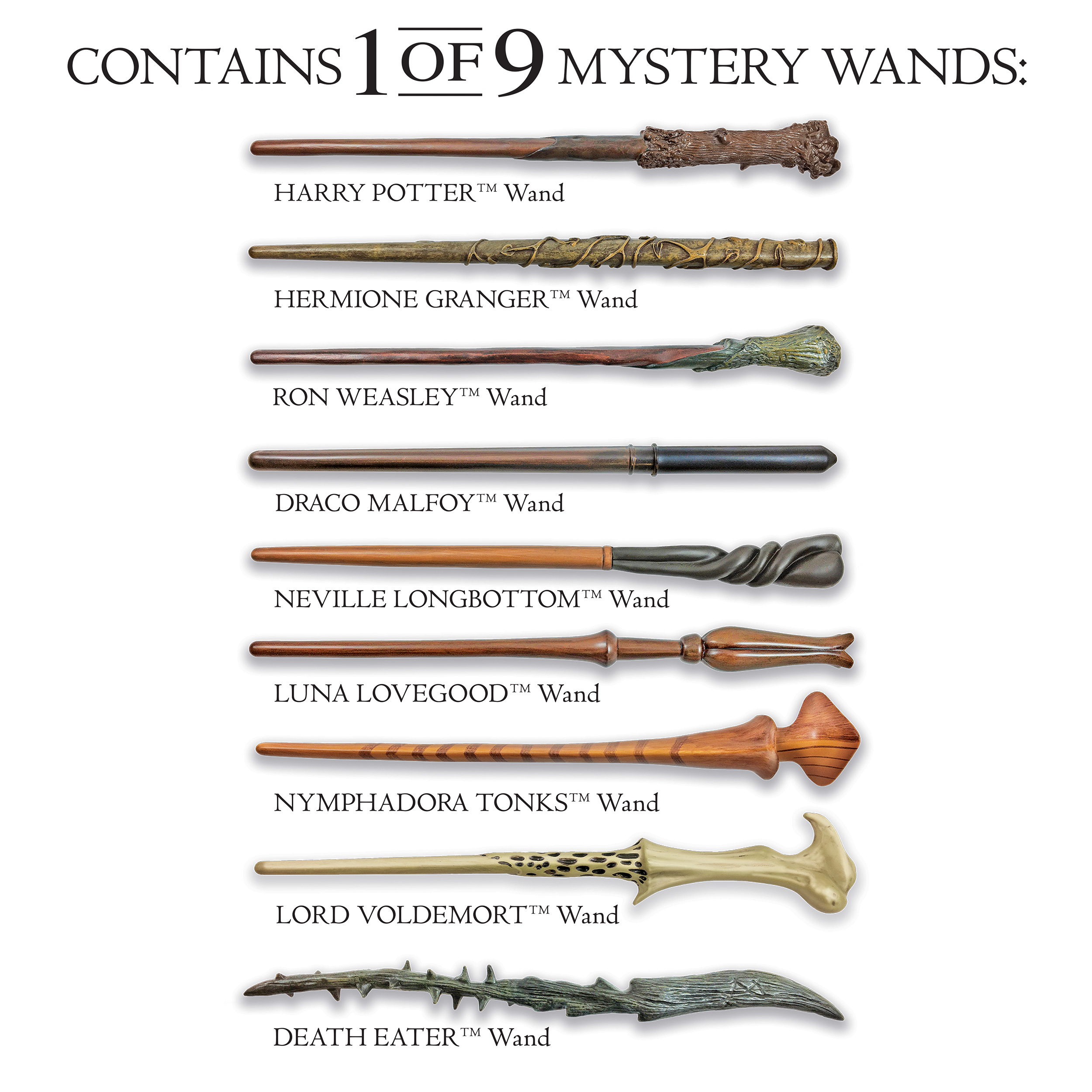 Noble Collections Harry Potter Mystery Wand
