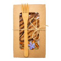 "Natural Bamboo Fork - 8"" - 100 count box"