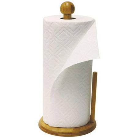 Home Basics Paper Towel Holder, Bamboo