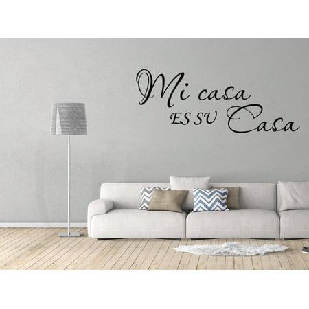 Vinilo Decorativo Para Pared Mi Casa Es Su Casa Wall Stickers Decal SQ72